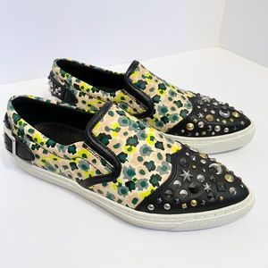 COACH Floral Studded stars Leather Tennis Shoes 7